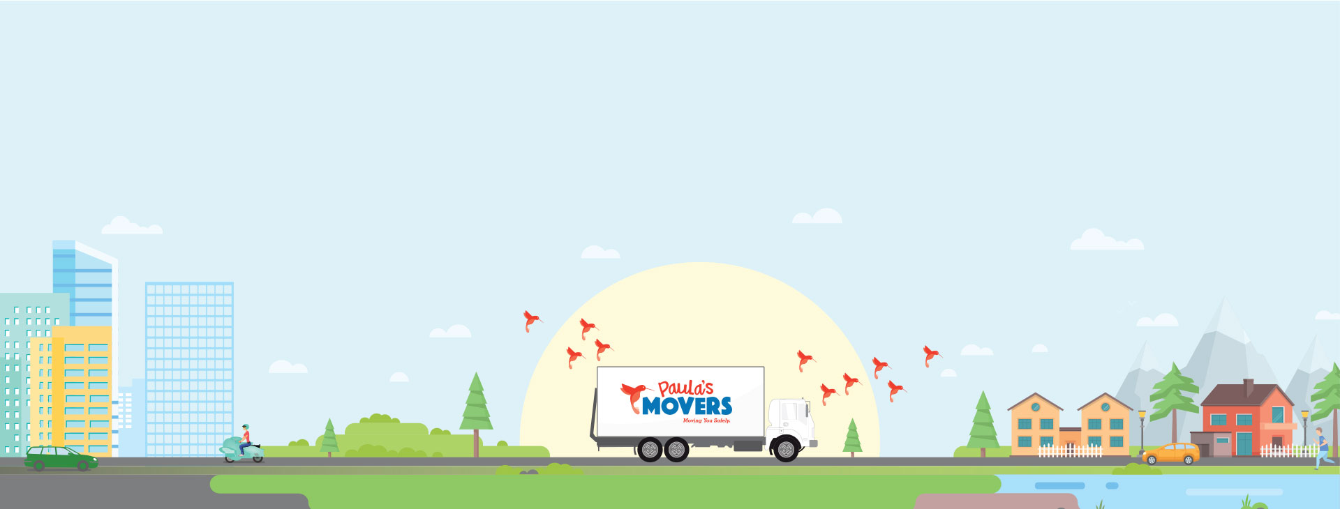 Paula's Movers Moving Another Happy Customer To Their New Home.