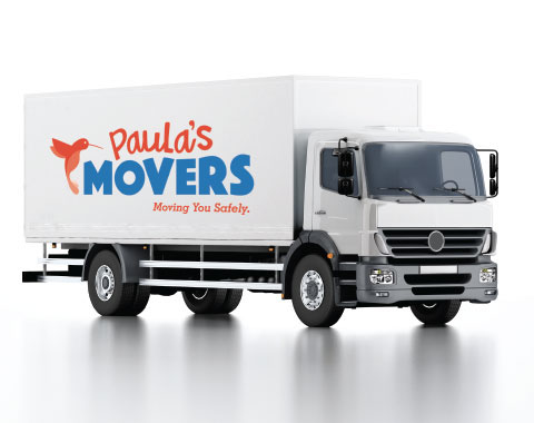 A picture of Paula's Movers Moving Truck
