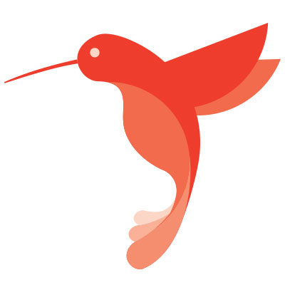 Paula's Movers Hummingbird Logo In Color